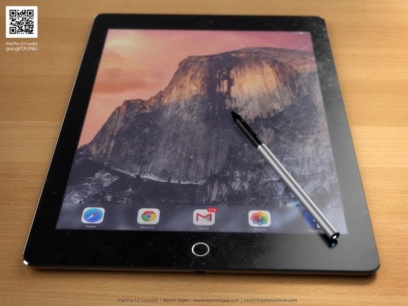 Concepto del iPad Pro, por Martin Hajek