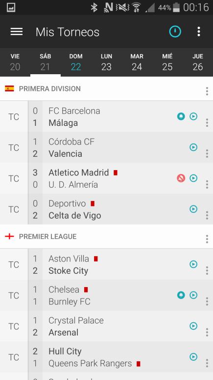 Resultados Forza Fútbol