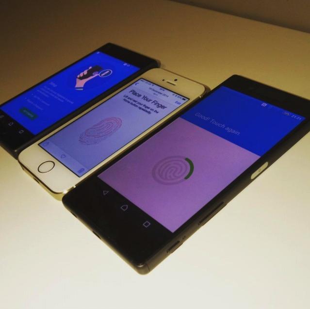 lector de huellas dactilares Sony Xperia Z5