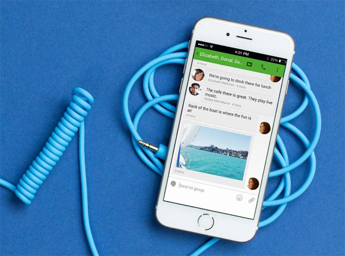 Hangouts sí está disponible para dispositivos iOS...SIn éxito