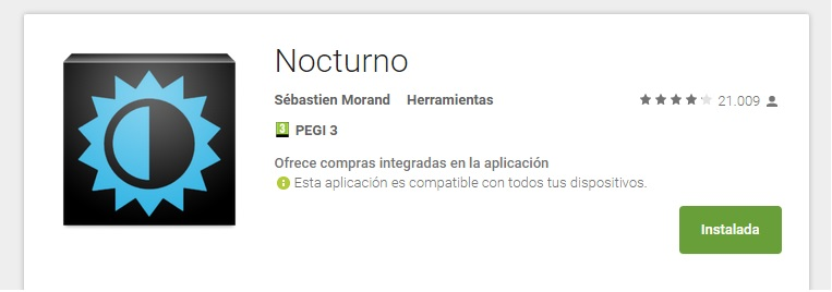 Nocturno Google Play