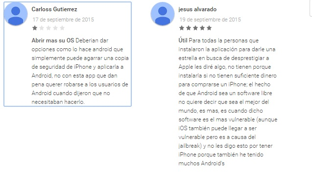 opiniones move to ios google play