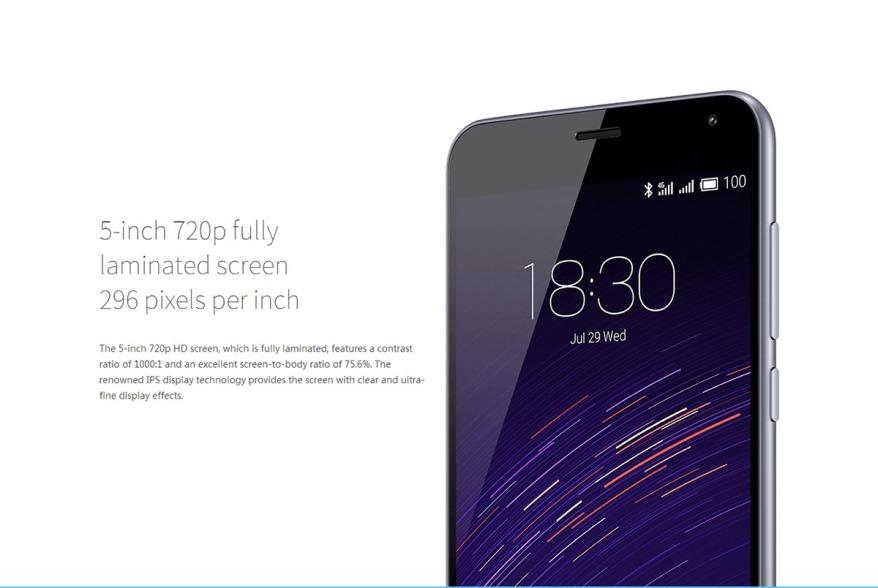 Meizu M2 pantalla