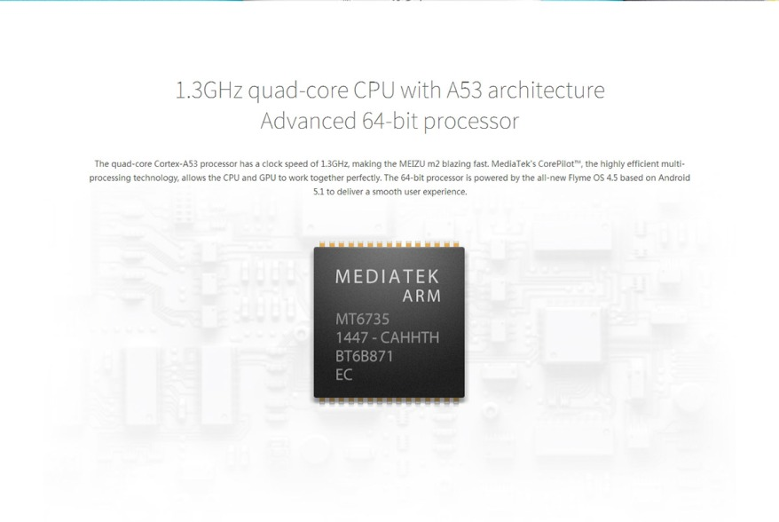 Meizu M2 procesador