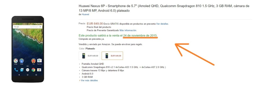 nexus 6p amazon españa 1