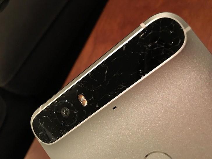Nexus 6P cristal trasero roto