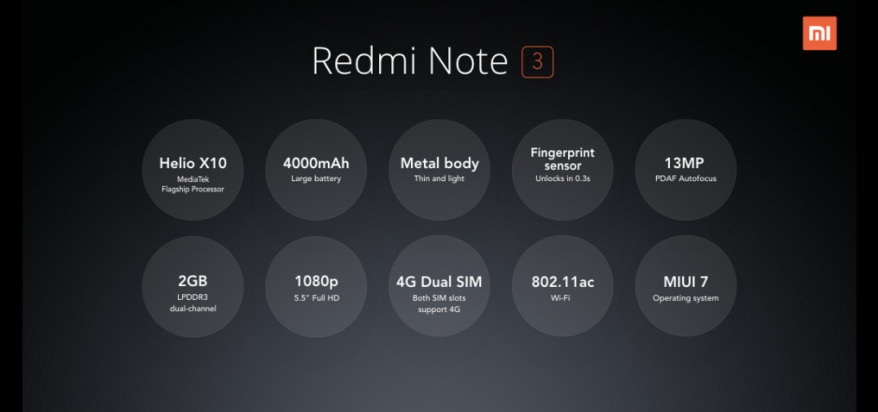 redmi note 3 specs