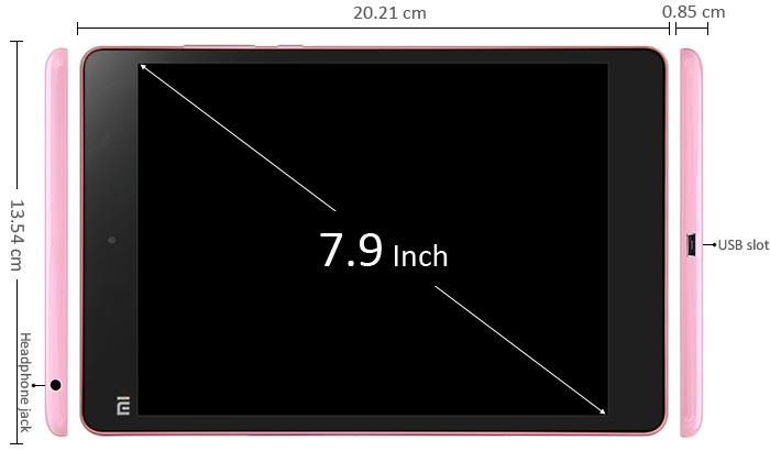 Xiaomi Mi Pad medidas