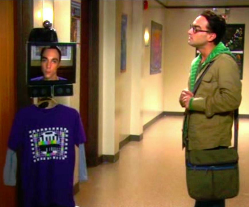 Sheldon iPad head