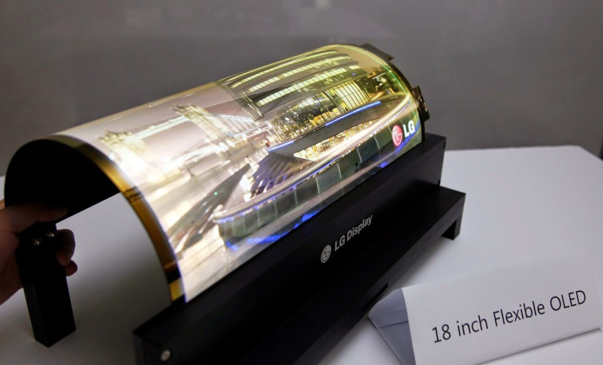 Flexible Rollable OLED lg tv