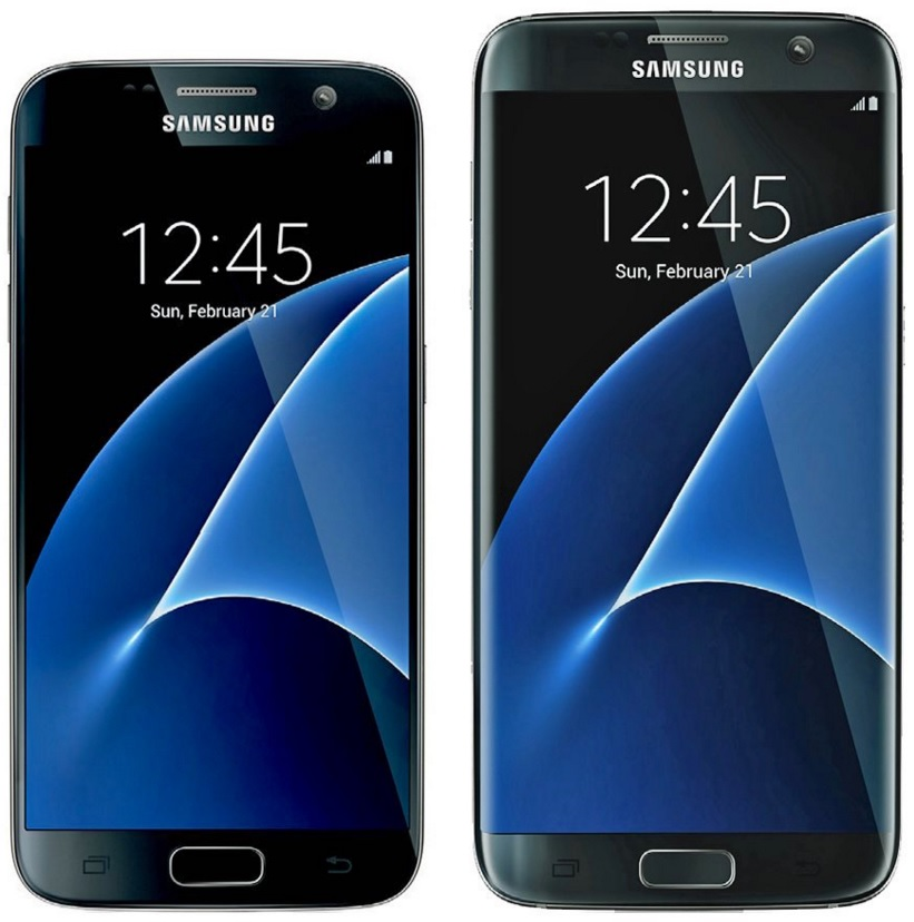 Samsung galaxy S7 y S7 Edge frontal