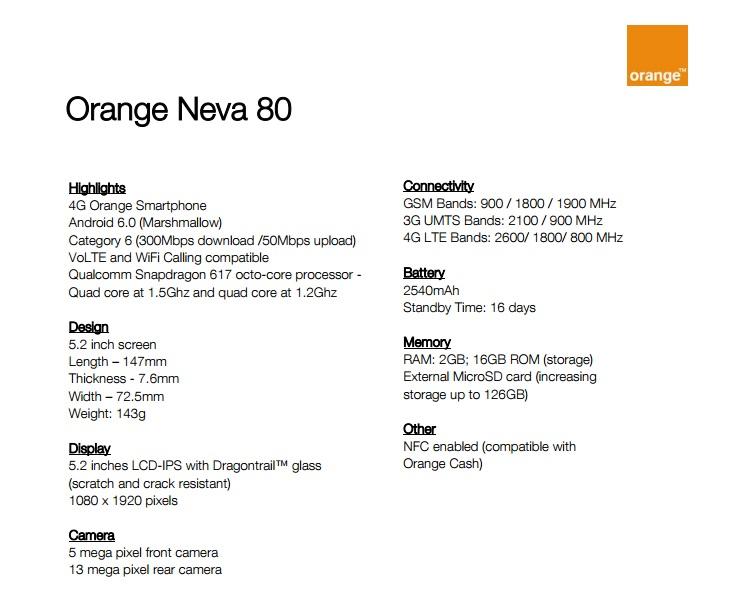 Orange Neva 80