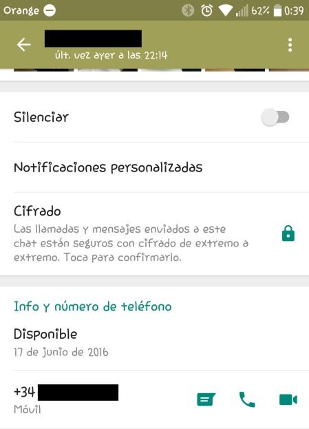 Silenciar Whatsapp Android